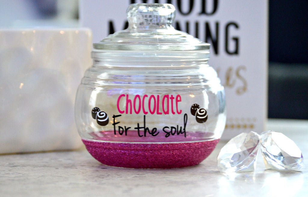 Candy Jar / Chocolate Jar - Chocolate for the Soul - love-in-the-city-shop