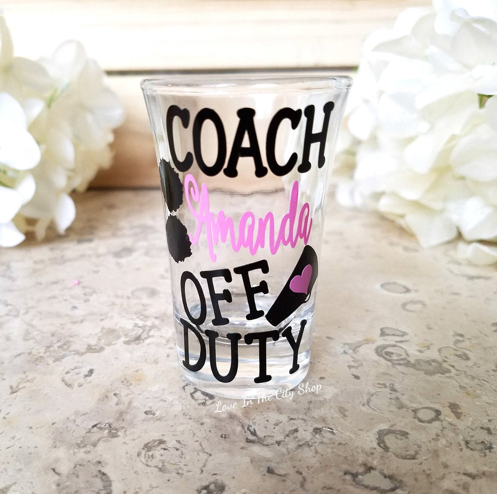 Cheer Coach Shot Glass - love-in-the-city-shop