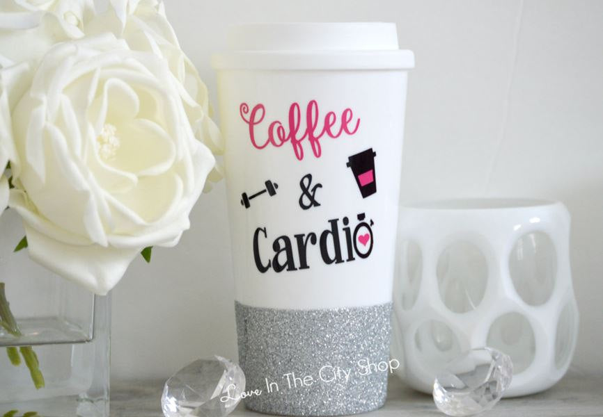 Coffee and Cardio Travel Mug - love-in-the-city-shop