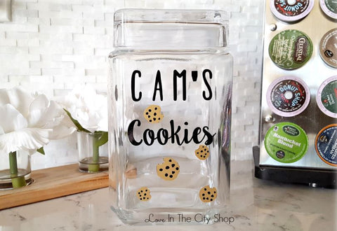 Custom Name Cookie Jar - love-in-the-city-shop