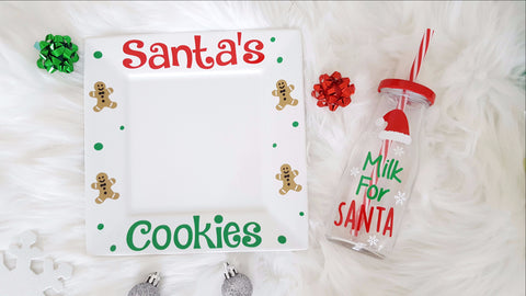 Santa Milk and Cookie Set - love-in-the-city-shop