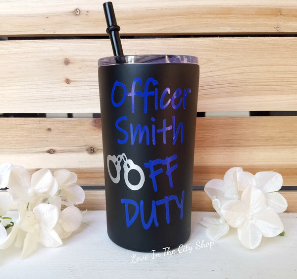 Police Officer Metal Tumbler (Mini Tumbler) - love-in-the-city-shop