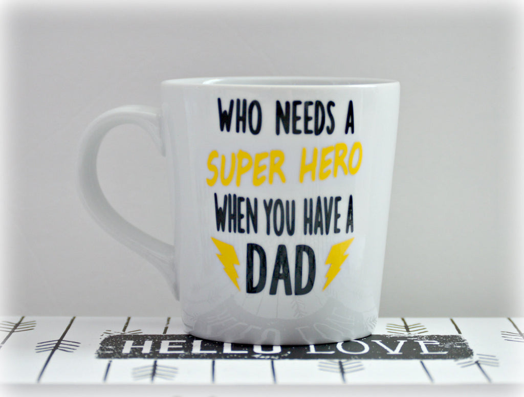 Superhero Dad Coffee Mug - love-in-the-city-shop
