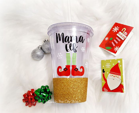 Mama Elf Tumbler (Acrylic) - love-in-the-city-shop