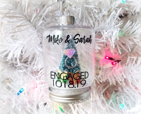 Engagement Snow Globe Ornament - love-in-the-city-shop