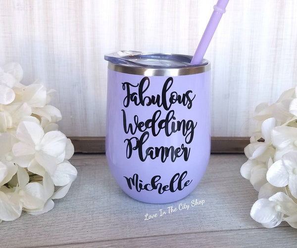 Fabulous Wedding Planner Wine Tumbler - love-in-the-city-shop