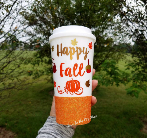 Happy Fall Travel Mug - love-in-the-city-shop