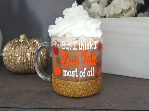 Fall Glass Coffee Mug - love-in-the-city-shop