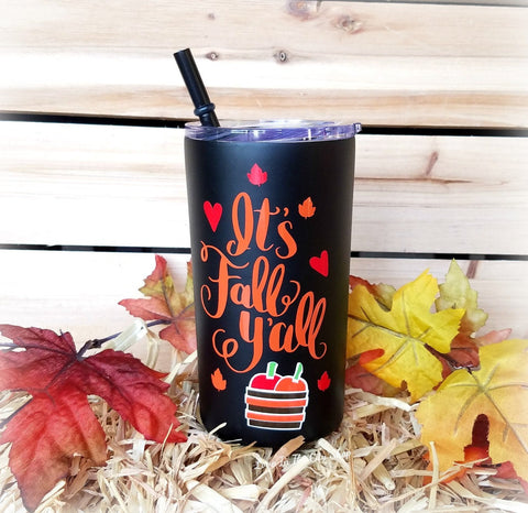 Fall Y'all Metal Tumbler (Mini Tumbler) - love-in-the-city-shop