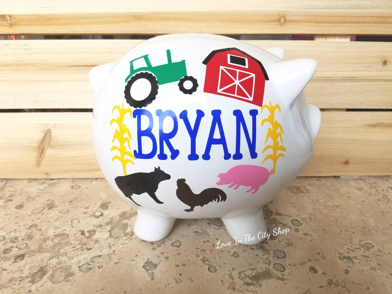 Farm Piggy Bank - love-in-the-city-shop