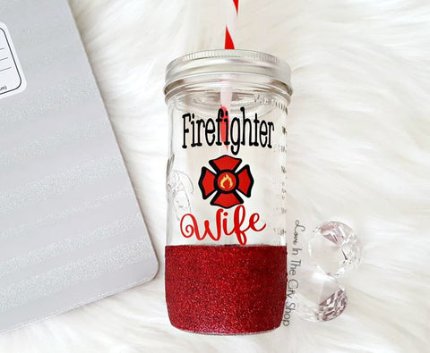 Fire Wife Tumbler (Glass Tumbler) - love-in-the-city-shop