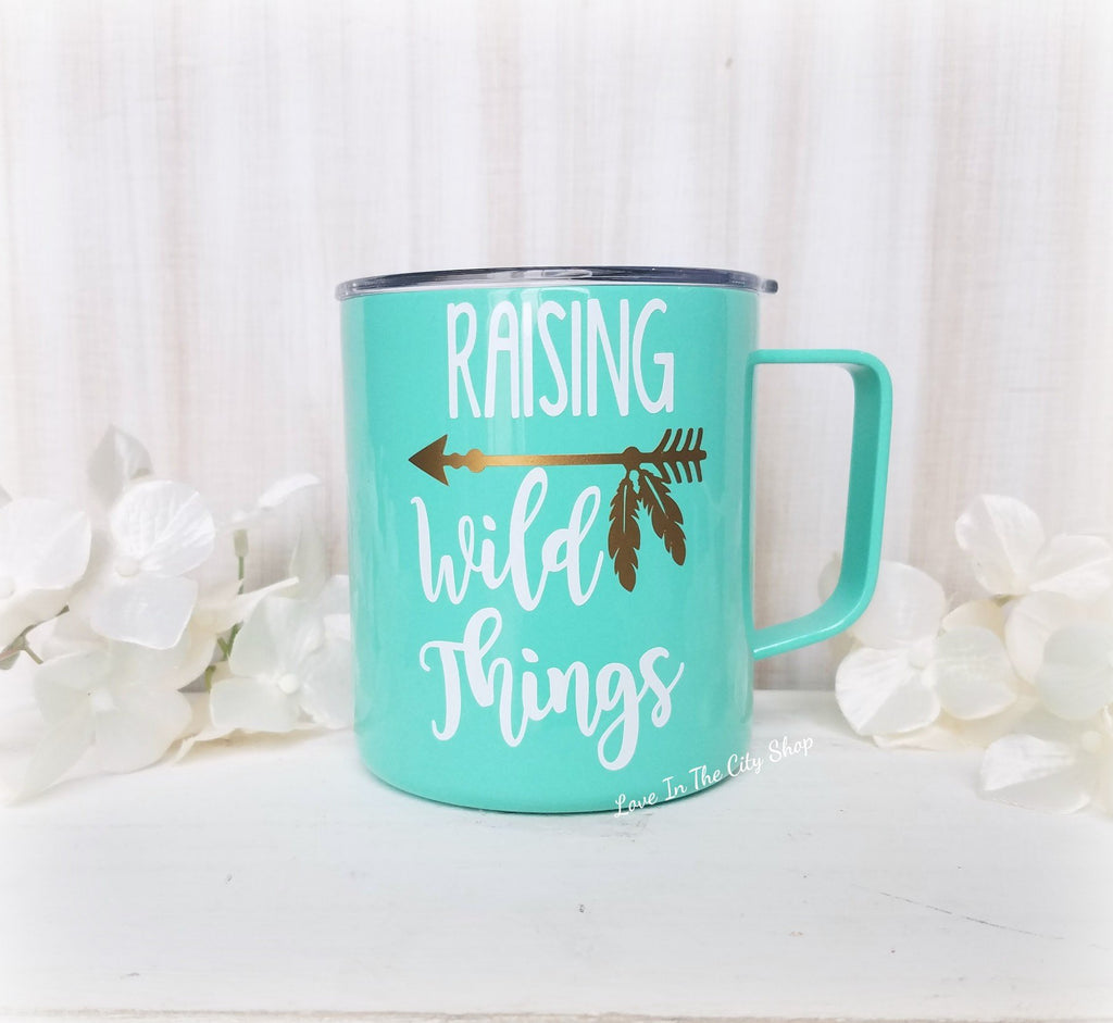 I Raise Wild Things Metal Mug - love-in-the-city-shop