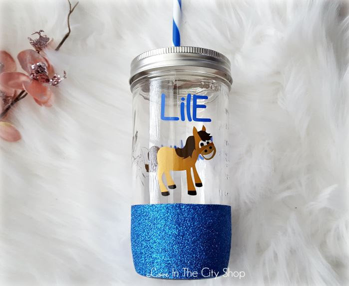 Horse Tumbler (Glass Tumbler) - love-in-the-city-shop