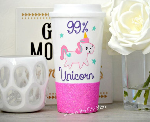 99% Unicorn Travel Mug - love-in-the-city-shop