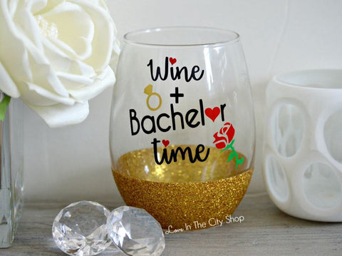 Bachelor / Bachelorette Wine Glass - love-in-the-city-shop