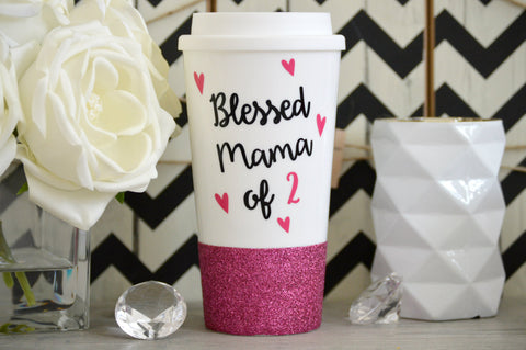 Blessed Mama Travel Mug - love-in-the-city-shop