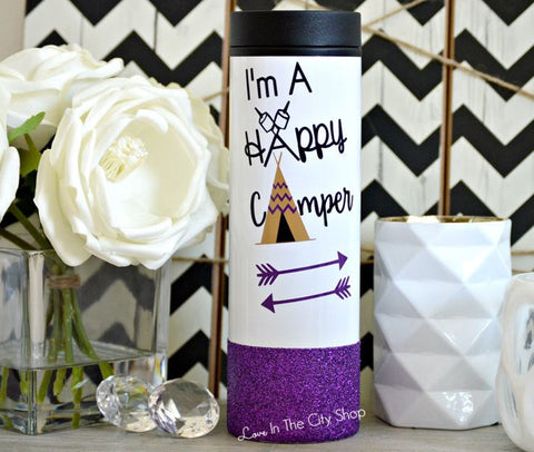 Happy Camper Travel Tumbler - love-in-the-city-shop