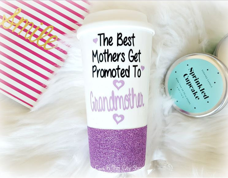 The Best Moms Get Promoted to Grandma Travel Mug - love-in-the-city-shop