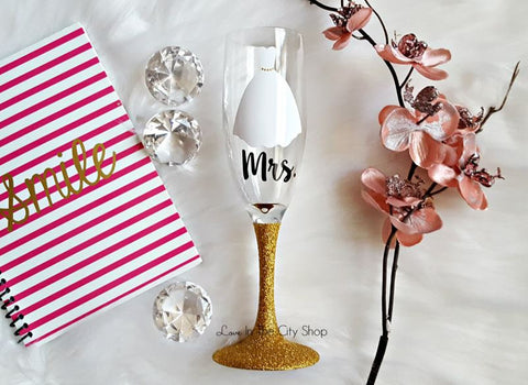 Bride Champagne Flute - love-in-the-city-shop