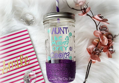 Aunt Tumbler (Glass Tumbler) - love-in-the-city-shop
