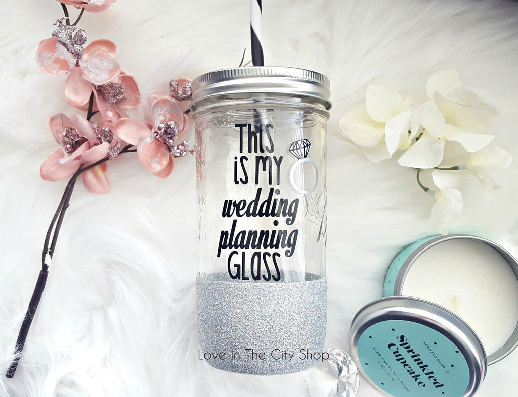 Wedding Planning Tumbler (Glass) - love-in-the-city-shop
