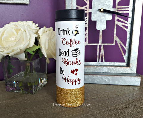 Book Lover Mug - Travel Tumbler - love-in-the-city-shop