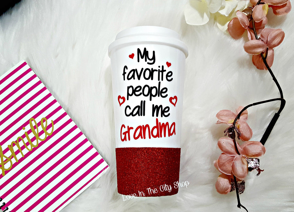 My favorite People Call Me Grandma Travel Mug - love-in-the-city-shop