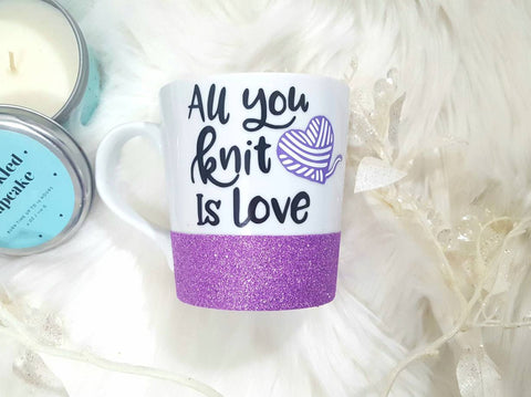 All You Knit Is Love Coffee Mug - love-in-the-city-shop