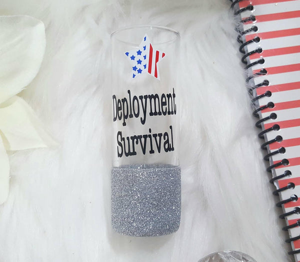 Deployment Survival Shot Glass - love-in-the-city-shop