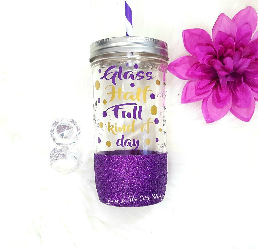 Glass Half Full Tumbler (Glass Tumbler) - love-in-the-city-shop
