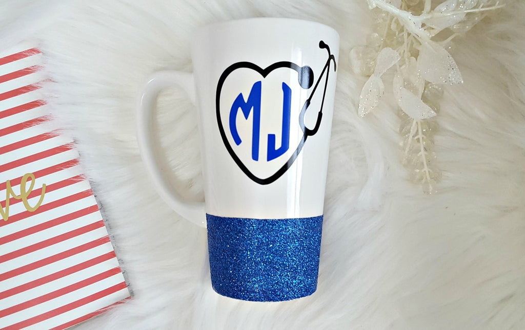 Nurse Monogram Latte Mug - love-in-the-city-shop