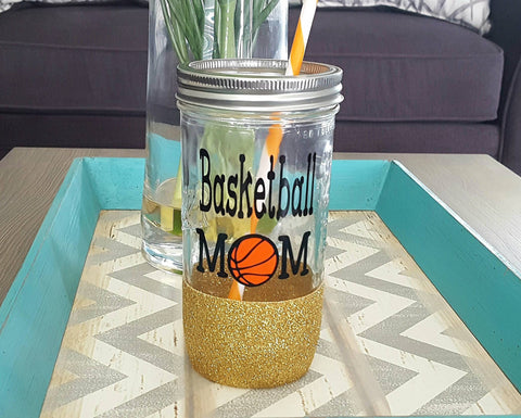 Basketball Mom Tumbler (Glass Tumbler) - love-in-the-city-shop