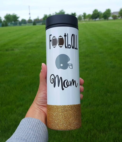 Football Mom Travel Tumbler - love-in-the-city-shop