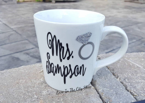 Engagement Coffee Mug - love-in-the-city-shop