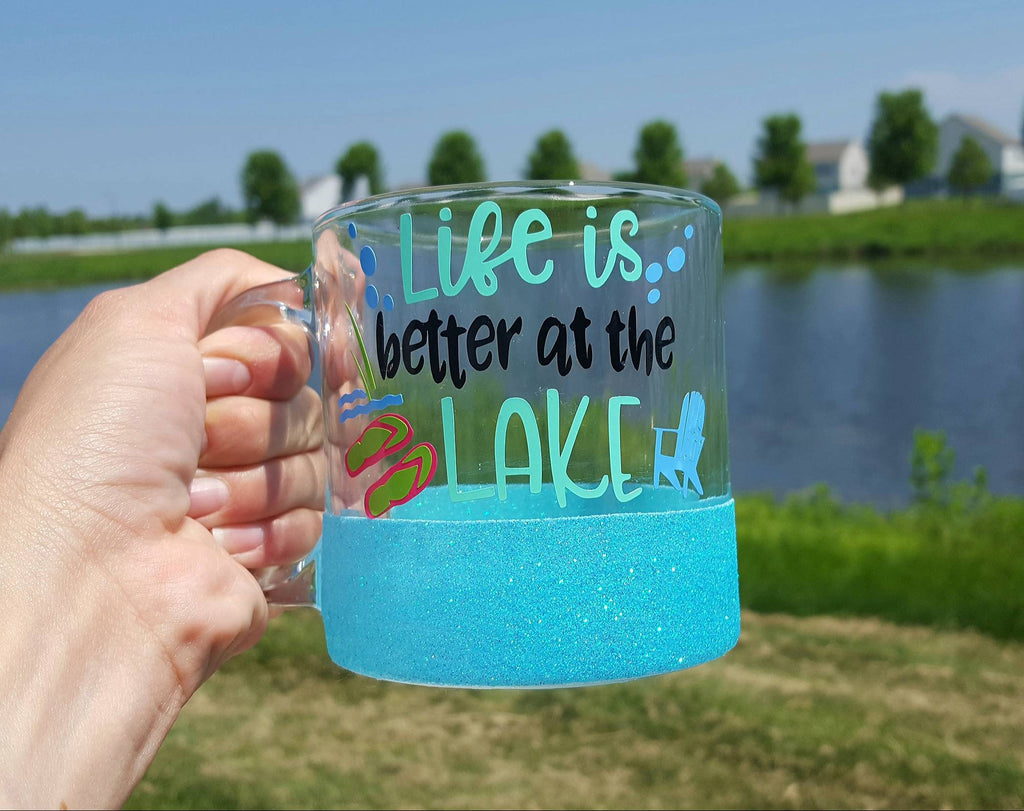 Life is Better at the Lake Glass Coffee Mug - love-in-the-city-shop