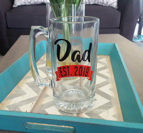Dad Est Beer Mug - love-in-the-city-shop