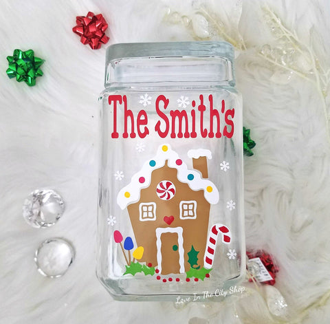 Christmas Cookie Jar - love-in-the-city-shop