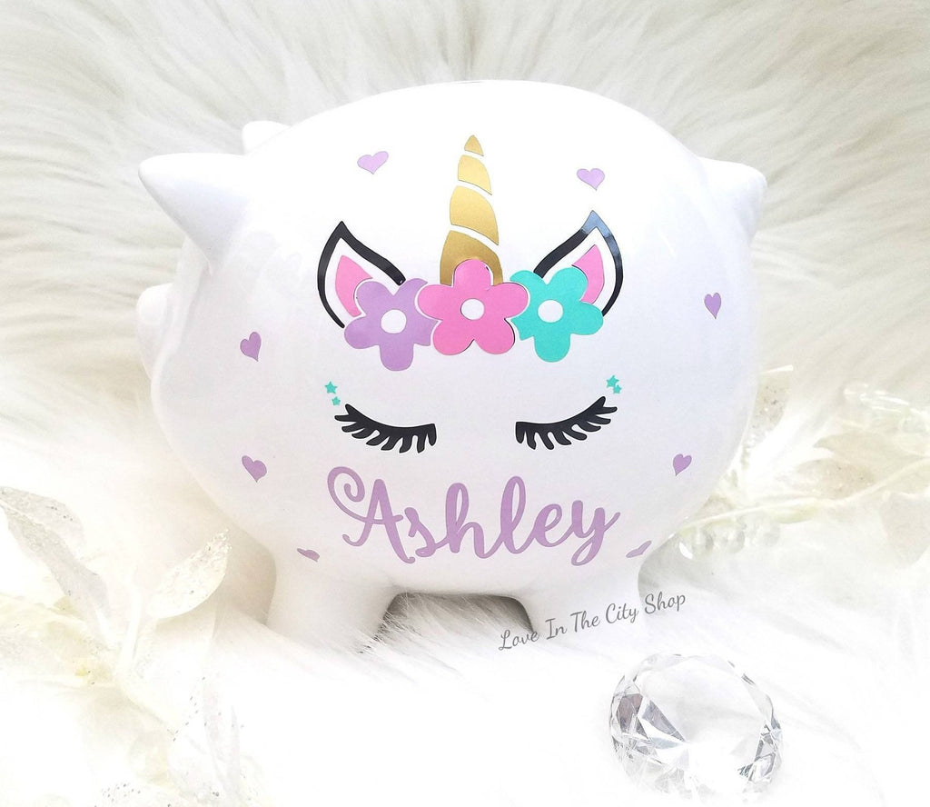 Unicorn Piggy Bank - love-in-the-city-shop