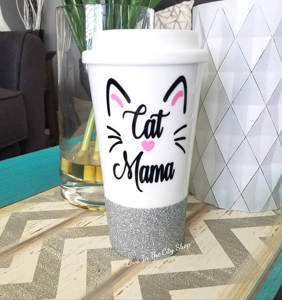 Cat Mama Travel Mug - love-in-the-city-shop