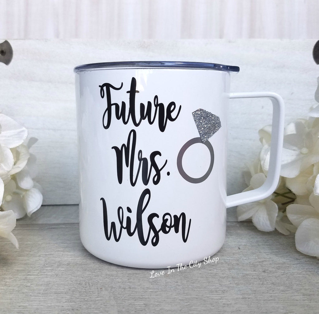Future Mrs Metal Mug - love-in-the-city-shop