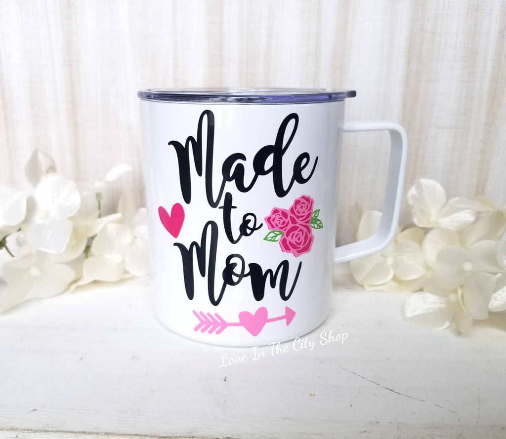 Made to Mom Metal Mug - love-in-the-city-shop