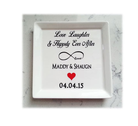 Happily Ever After Wedding Ring Dish - love-in-the-city-shop