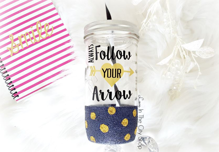 Follow Your Arrow Glass Tumbler - love-in-the-city-shop