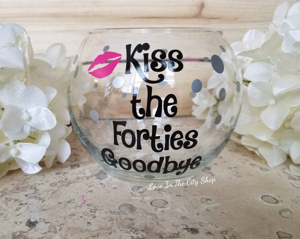 Kiss the 40's Goodbye Candy Jar - love-in-the-city-shop