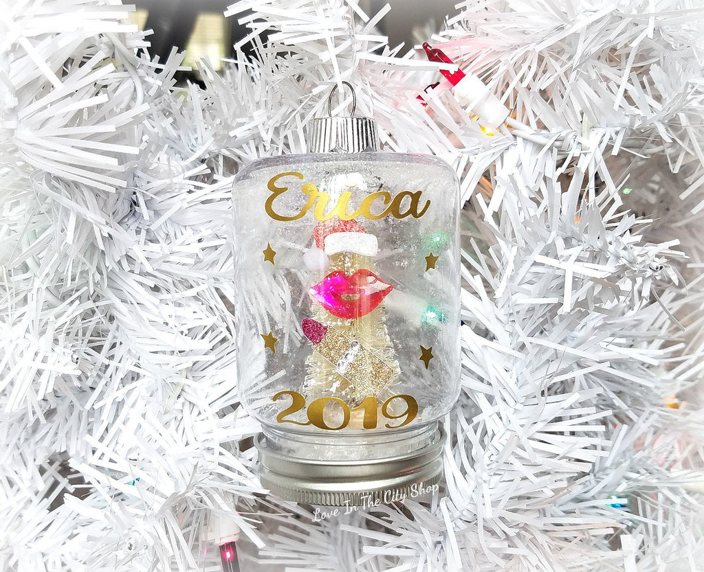 Makeup Artist Snow Globe Ornament - love-in-the-city-shop