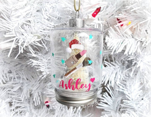 Make Up Snow Globe Ornament - love-in-the-city-shop
