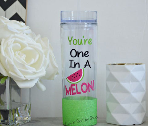 You're One in a Melon Water Bottle - love-in-the-city-shop