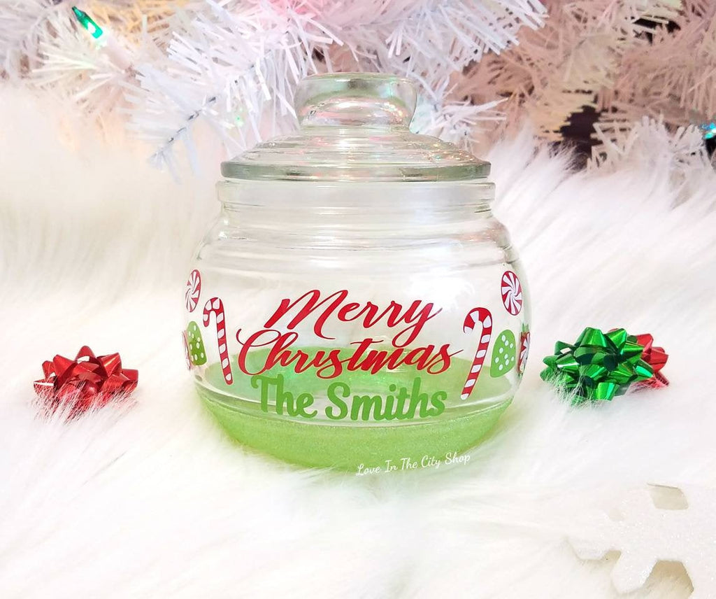 Merry Christmas Candy Jar - love-in-the-city-shop