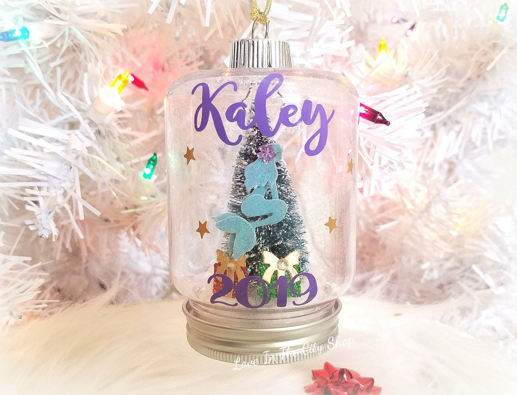 Mermaid Snow Globe Ornament - love-in-the-city-shop