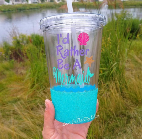 Mermaid Tumbler (Acrylic) - love-in-the-city-shop